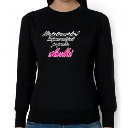 Słodki wzrost (bluza damska taliowana) jasna grafika