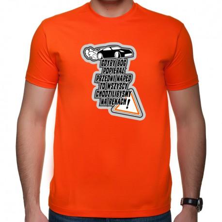 Przedni napęd? t-shirt z nadrukiem