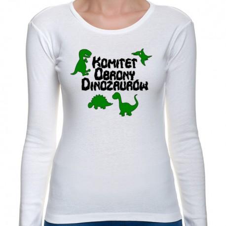 Komitet Obrony Dinozaurów (bluzka damska długi rękaw)
